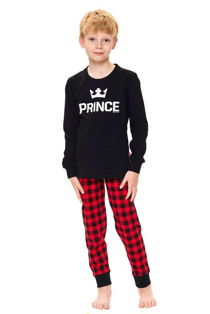Chlapecké pyžamo Prince černé velikost 122