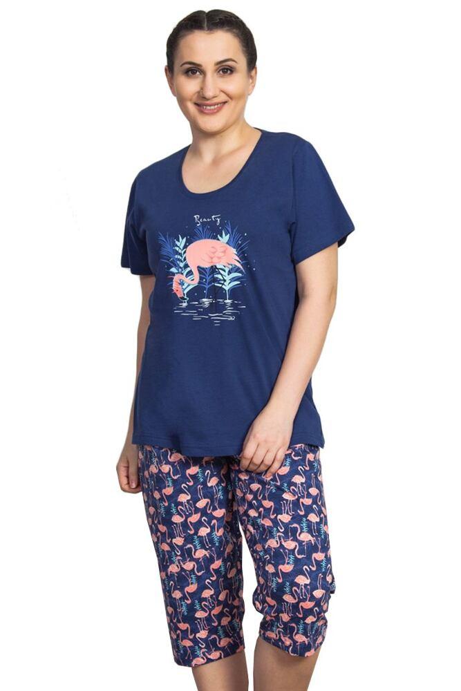 Dámské pyžamo Beauty s plameňákem velikost XXL