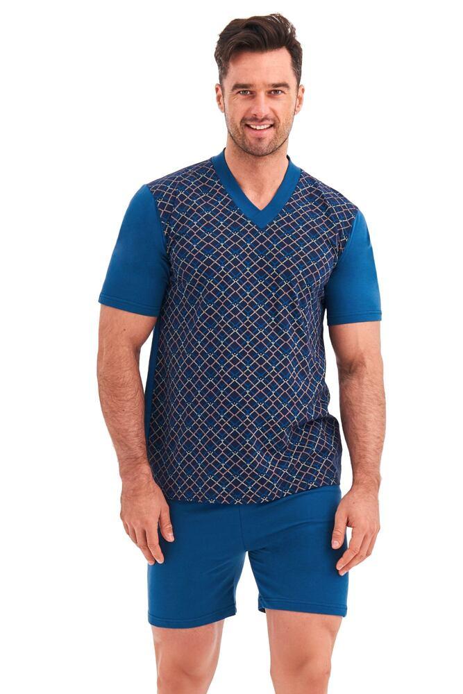 Pánské pyžamo Roman geometrický vzor velikost L