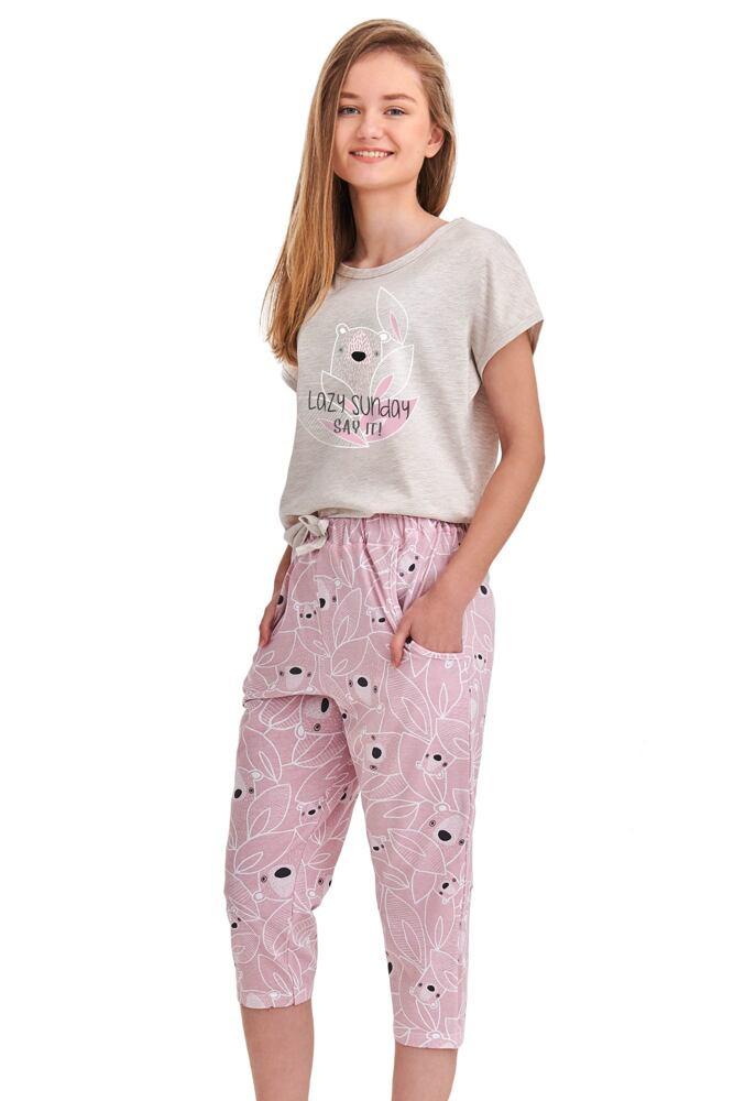 Dívčí pyžamo Etna béžové koala velikost 146