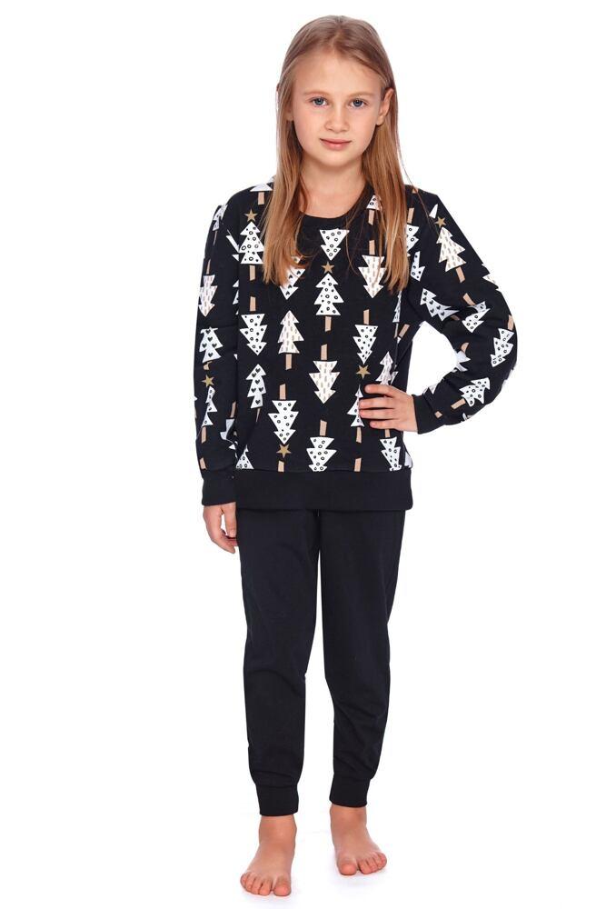 Dětské pyžamo Zuna černé se stromečky velikost 110