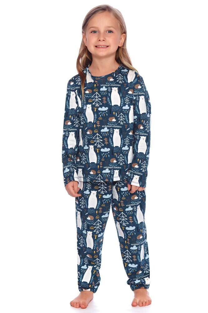 Dětské pyžamo Les tmavě modré s medvědy velikost 122