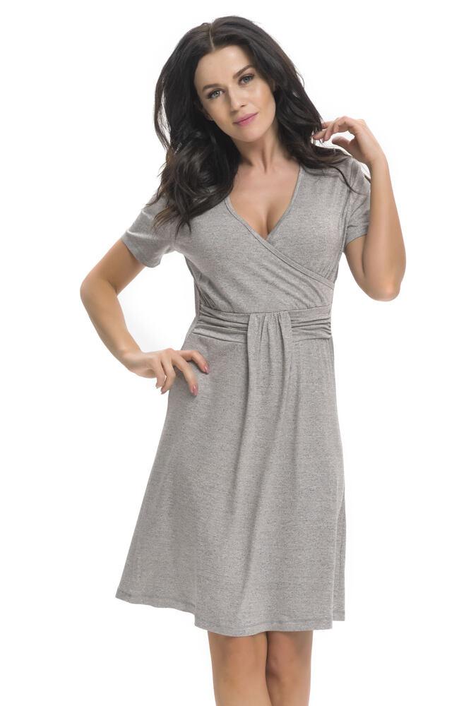 Těhotenská a kojicí košile Tara šedá velikost S