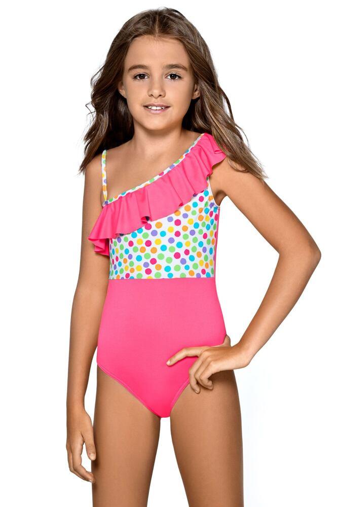 Dívčí jednodílné plavky Anetka růžové velikost 122