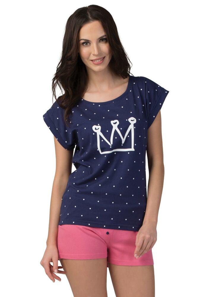 Dámské tmavě modré bavlněné pyžamo Stella velikost L