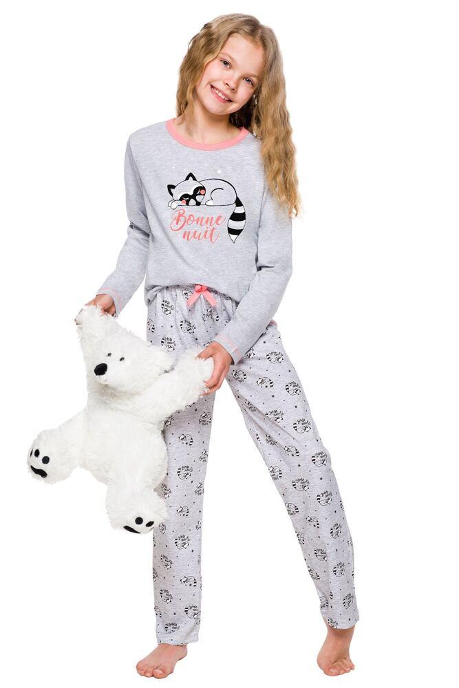Dívčí pyžamo Maja šedé s mývalem velikost 92