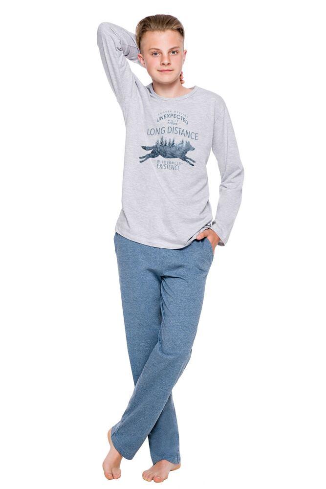 Chlapecké pyžamo Kája šedé velikost 146