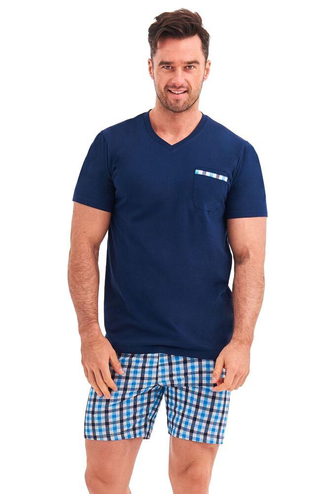 Pánské pyžamo Dominik tmavě modré velikost L