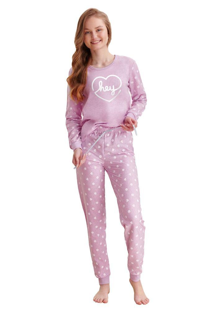 Dívčí pyžamo Ami fialové hey velikost 146