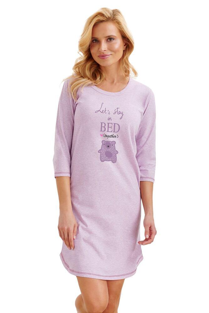 Noční košilka Rita fialová medvídek velikost M