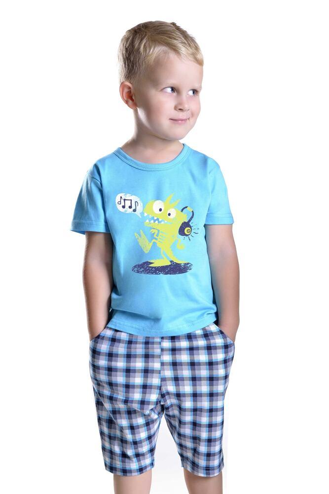 Chlapecké  pyžamo s drakem Julek modré velikost 116