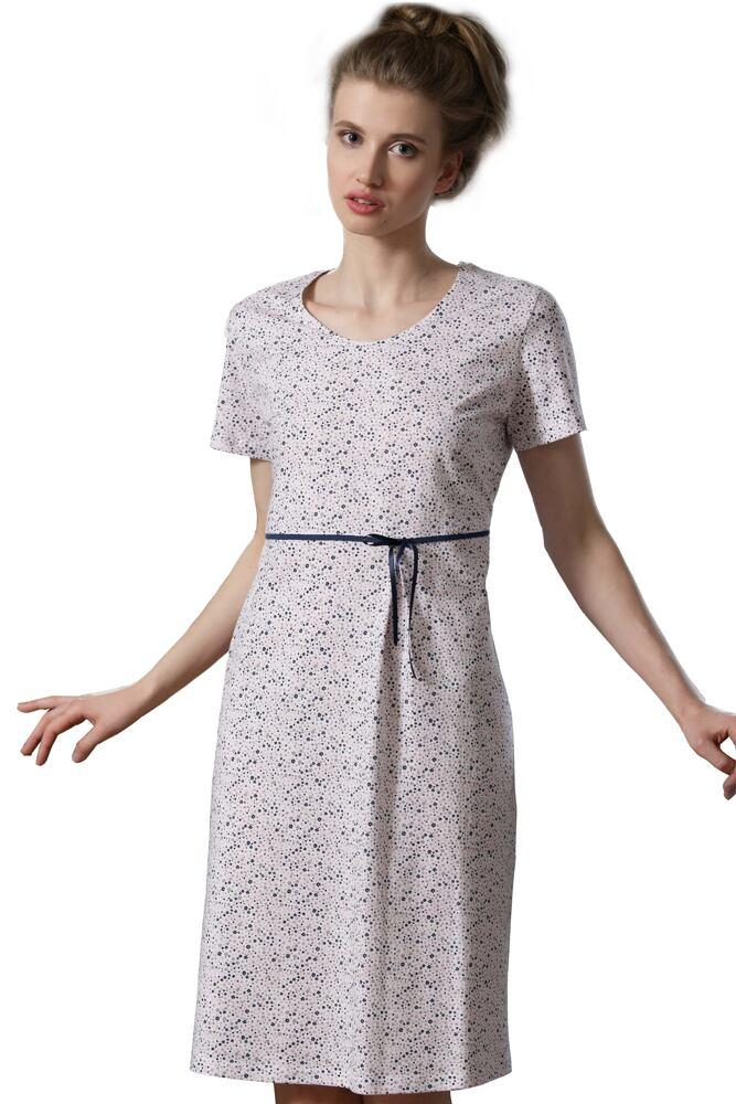 Dámská bavlněná noční košile Martina s kvítečky velikost S