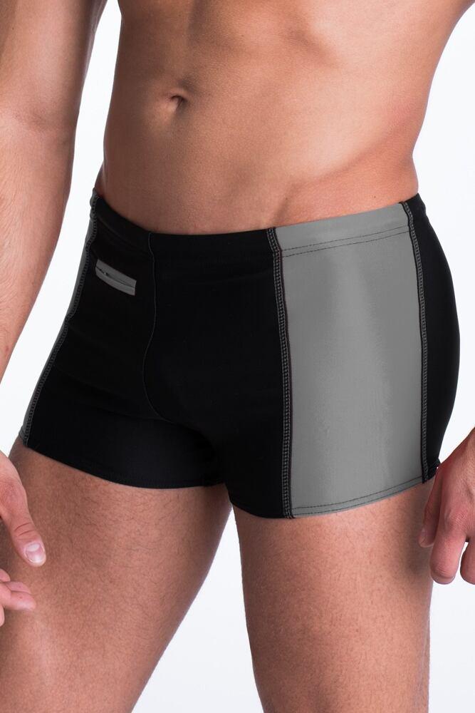 Pánské plavky boxerky Brian černošedé velikost XL