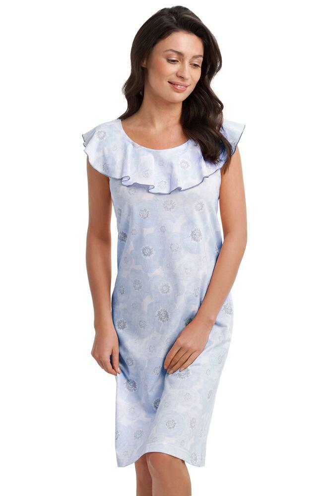 Dámská noční košile Angela modrá velikost M