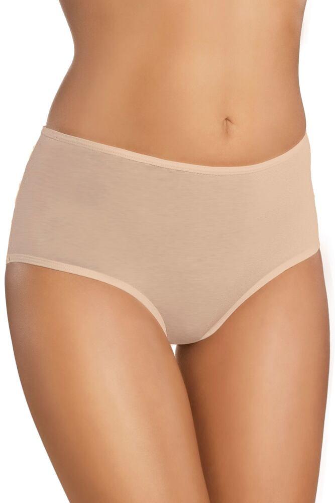 Bavlněné kalhotky s vyšším pasem 18 beige velikost S