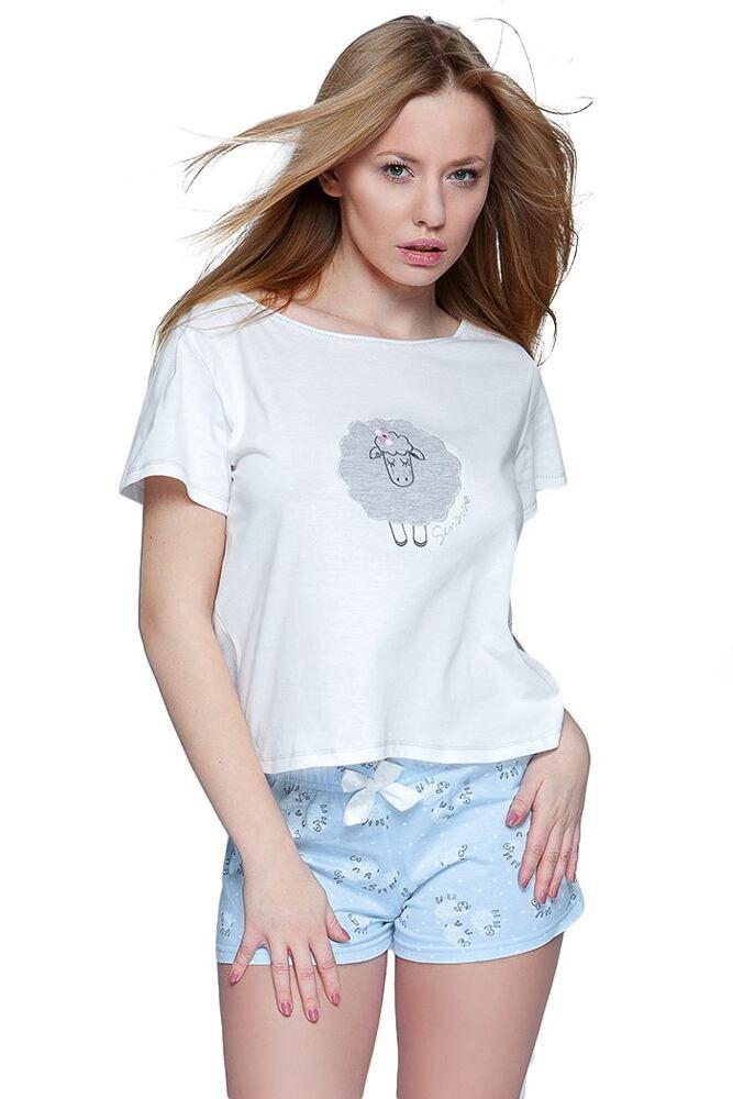 3fa6874f232 Dámské pyžamo Ovečka modré krátké velikost L · Doporučujeme