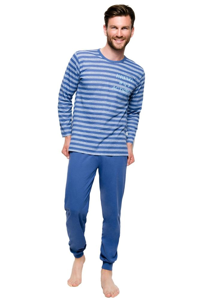 Pánské bavlněné pyžamo Max modré velikost M