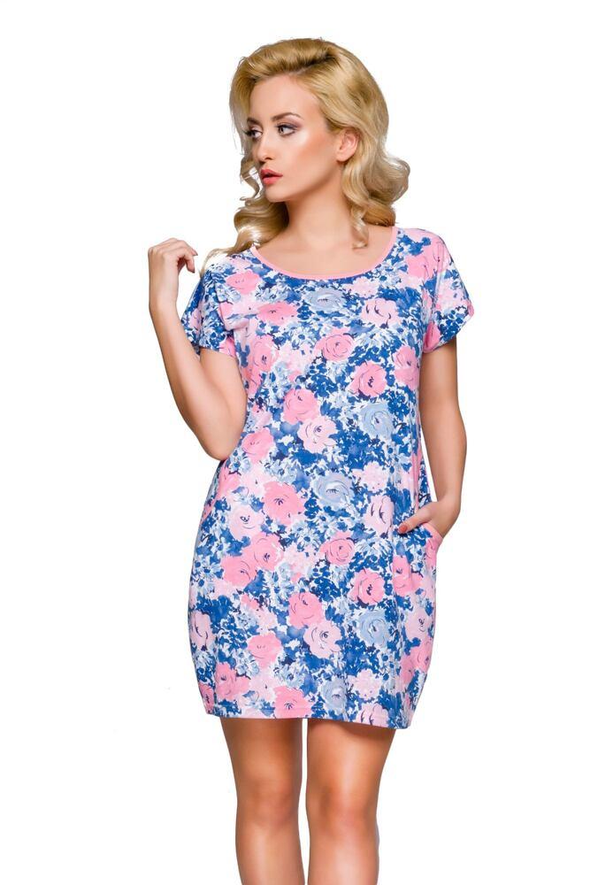 Bavlněná noční košilka Viky květy velikost M