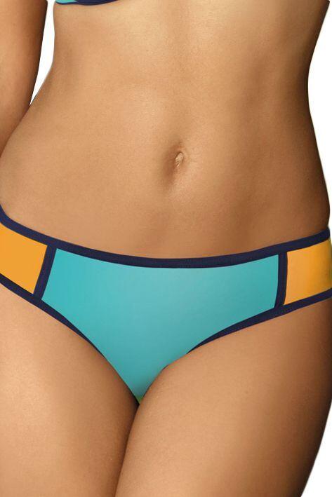 Plavkové kalhotky Chloe modro-oranžové velikost XL
