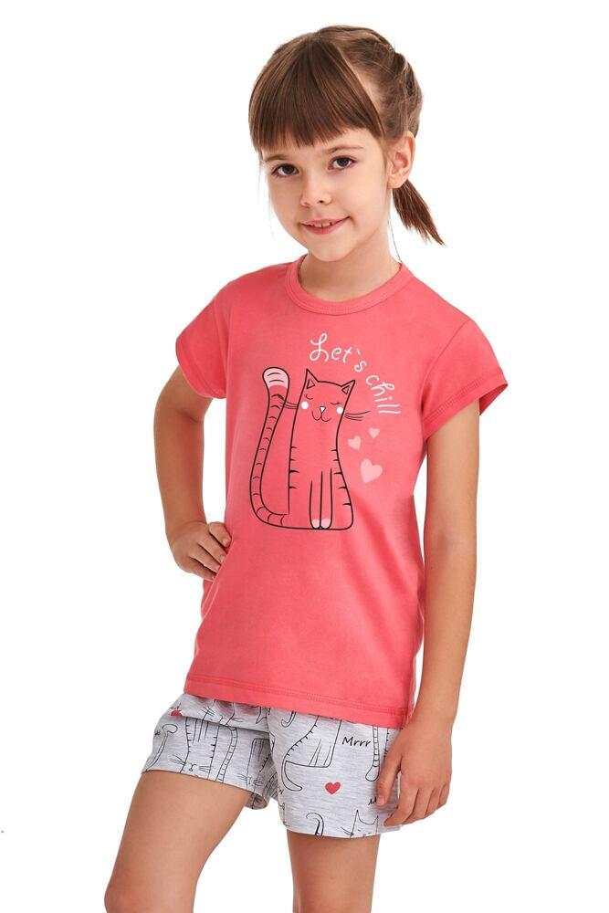 Dívčí pyžamo Hanička růžové Lets chill velikost 86