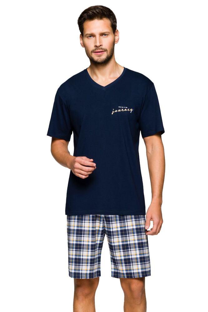 Pánské pyžamo Pavel tmavě modré velikost L