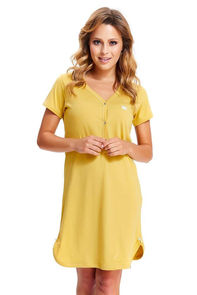 Dámská bavlněná košile Lor žlutá velikost S