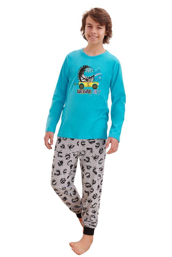 Chlapecké pyžamo Miloš tyrkysové velikost 146