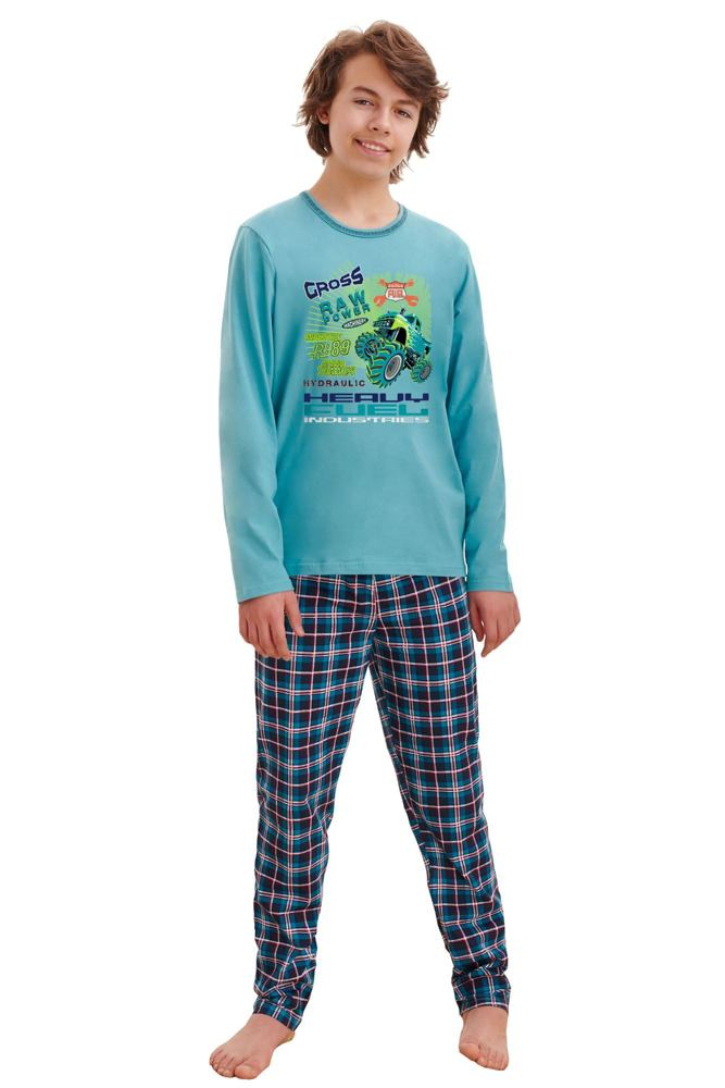Chlapecké pyžamo Leo cross modré velikost 146