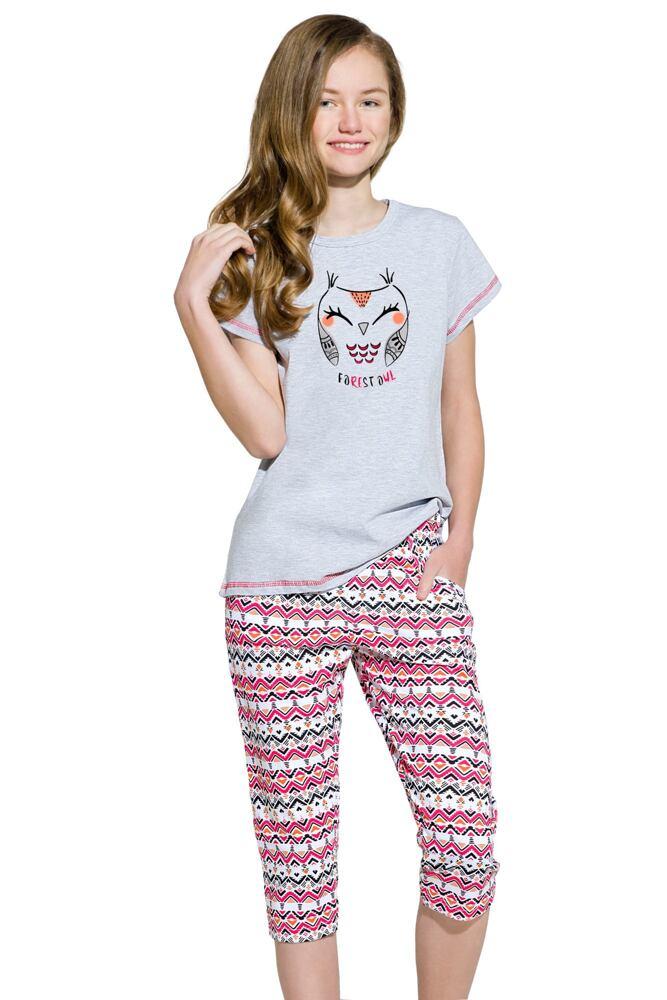 Dívčí bavlněné pyžamo Reb sovička velikost 146