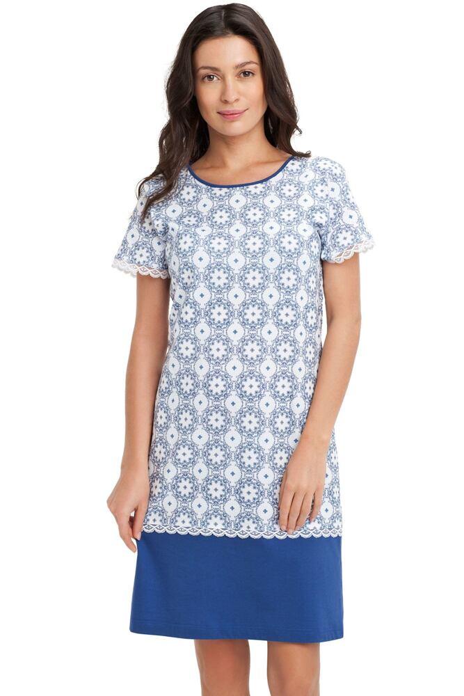 Dámská noční košile Beate modrá velikost M
