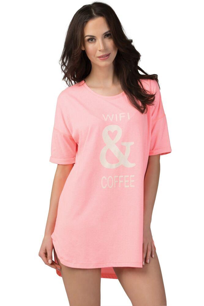 Dámská noční košilka Lucy korálová velikost S
