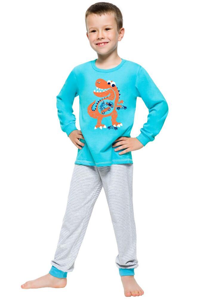 Dětské pyžamo s dinosaurem Maty tyrkysové velikost 92
