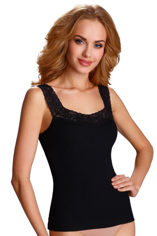Dámská spodní košilka Arietta černá velikost S
