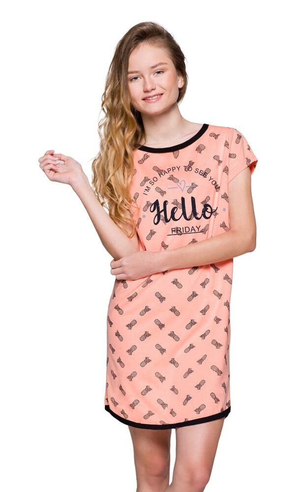 Dívčí noční košilka Molly Hello lososová velikost 146