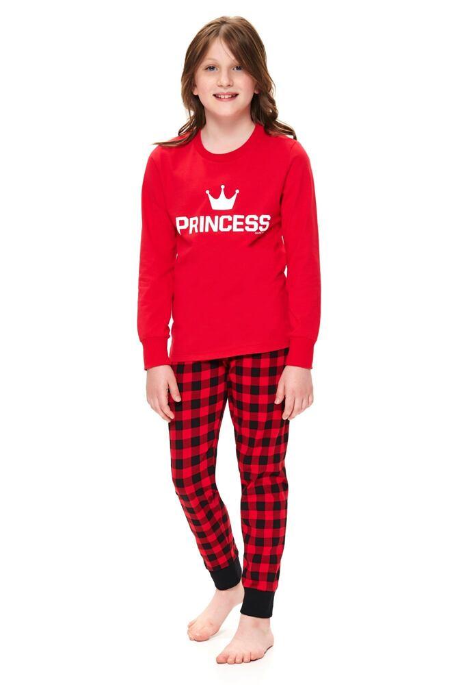 Dívčí pyžamo Princess červené velikost 110