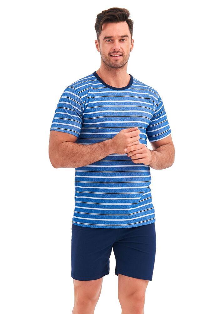 Pánské pyžamo Corin modré proužky velikost S