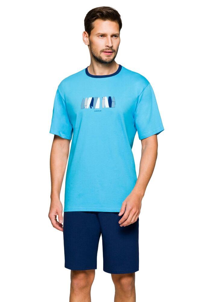 Pánské pyžamo Mark summer modré velikost M