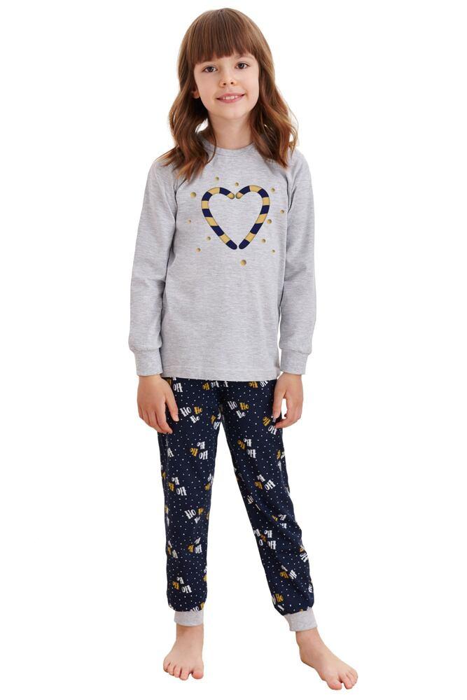 Dětské pyžamo Ada šedé s vánočními paličkami velikost 92