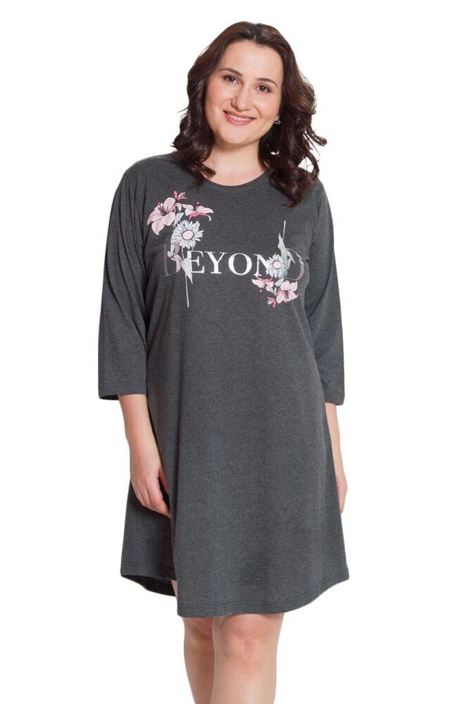 Dámská noční košile Beyond tmavě šedá velikost XL