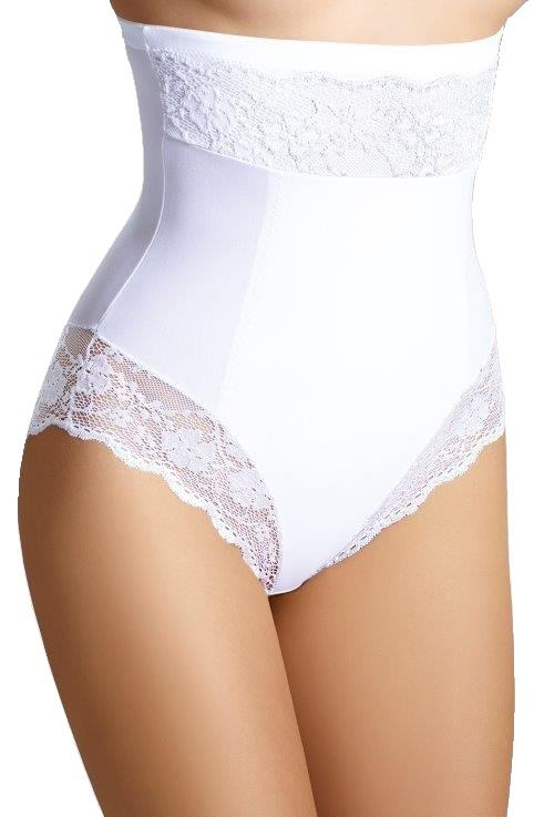 Stahovací kalhotky s krajkou Valerie bílé velikost M