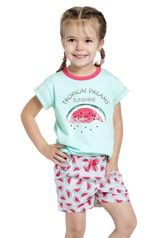 Dívčí pyžamo s melounem Vanessa zelené velikost 128