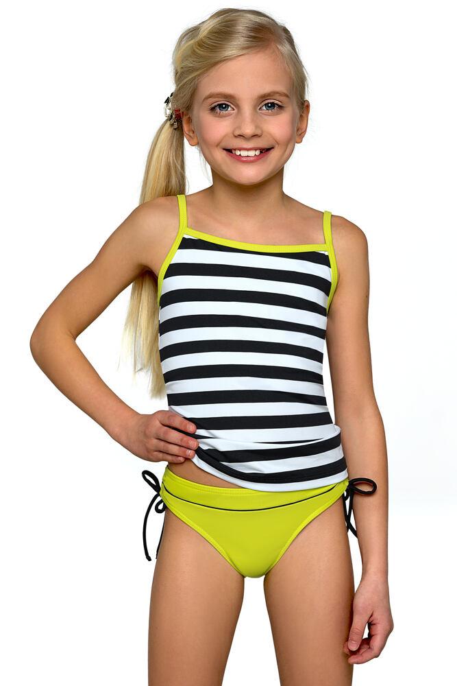 Dívčí tankiny Anička zelené velikost 134