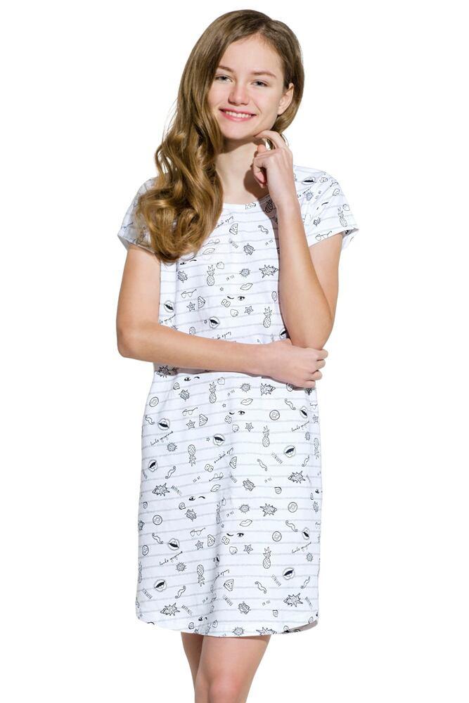 Dívčí noční košile Inka šedá velikost 152