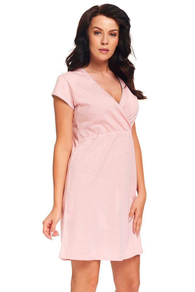 Kojicí noční košile Monita růžová velikost S