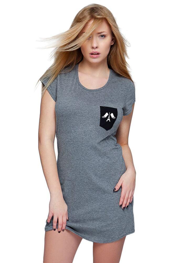 Noční košile Paris tmavě šedá velikost S