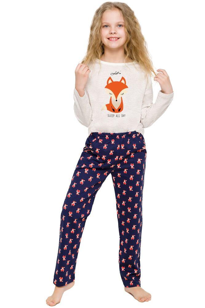 Dívčí pyžamo Sofinka béžové s liškou velikost 110