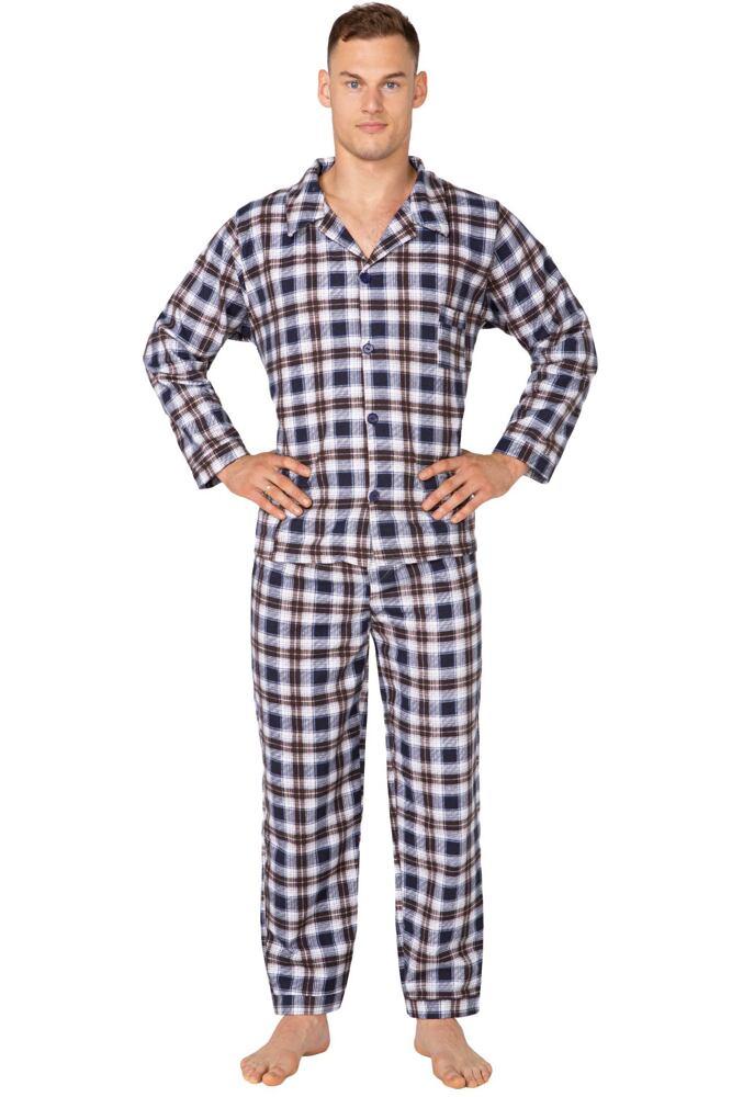 84976539689c Pánské flanelové pyžamo Radek kárované velikost L