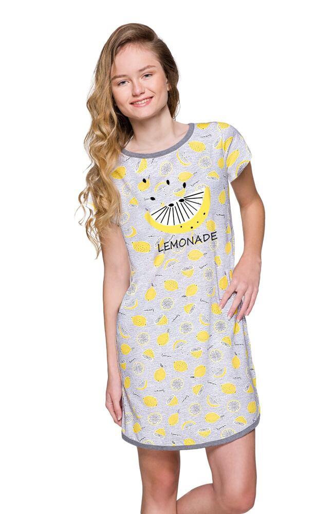 Dívčí košilka Molly lemon šedá velikost 146