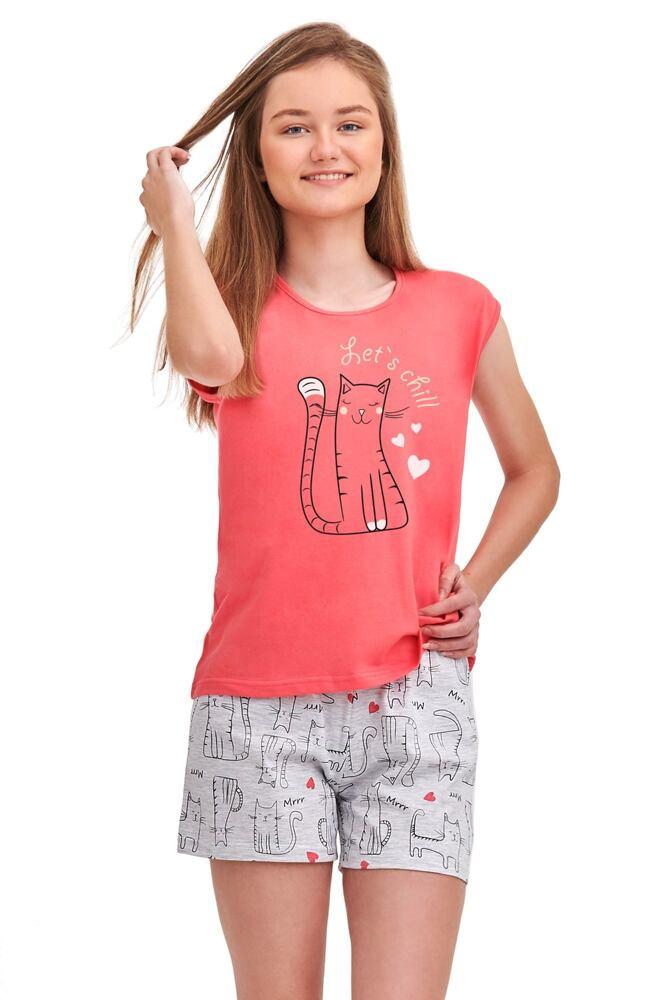 Dívčí pyžamo Eva růžové Lets chill velikost 146