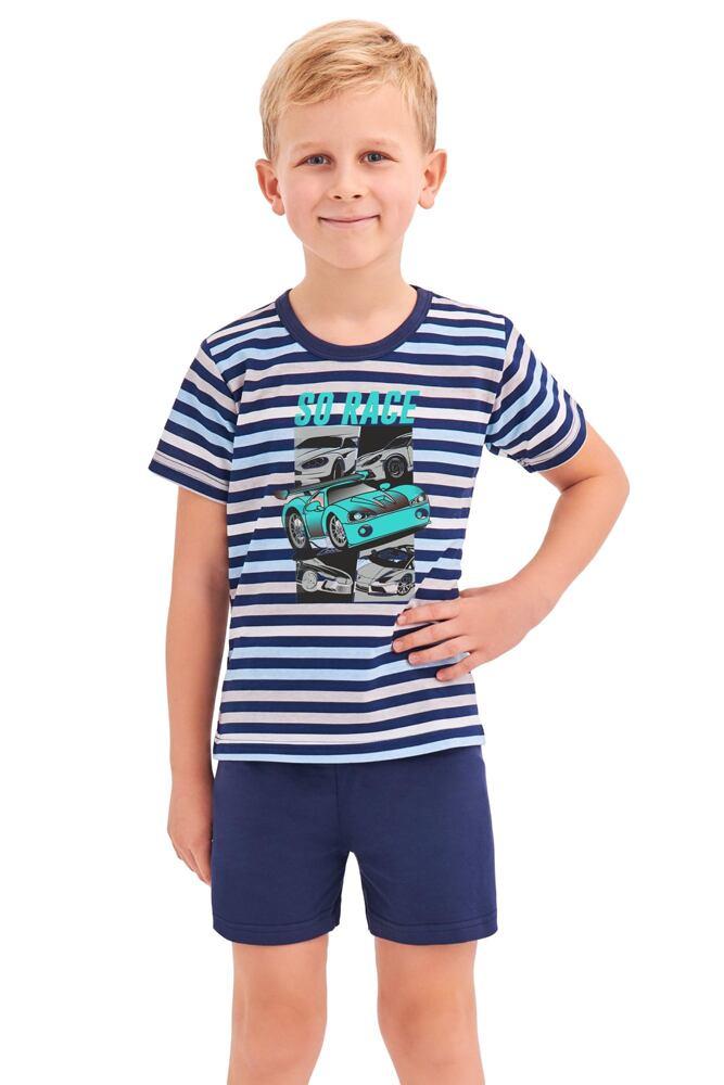 Chlapecké pyžamo Max modré proužky velikost 92